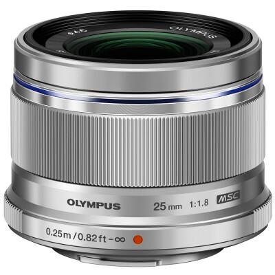 奥林巴斯(OLYMPUS) M.ZUIKO DIGITAL 25mm f1.8  高品质定焦镜头 大光圈、高速&静音的自动对焦  银色