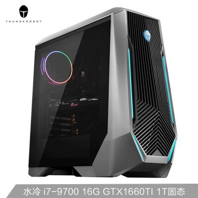 雷神(ThundeRobot)911黑武士Ⅱ 英特尔九代i7 水冷游戏台式电脑主机(i7-9700 16G GTX1660Ti 1T SSD )