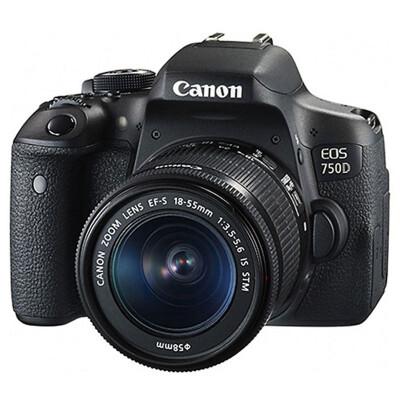 佳能(Canon)EOS 750D 单反套机  (EF-S 18-55mm f/3.5-5.6 IS STM镜头)