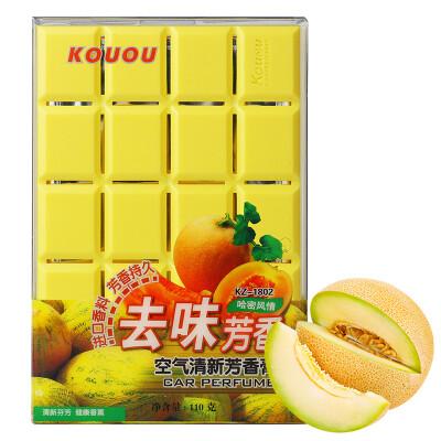 香王(Kouou)汽车香水香膏固体车载车用香水新车除异味 哈密瓜味110g