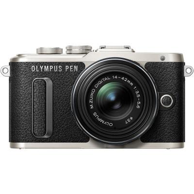 奥林巴斯/OLYMPUS E-PL8 EPL8 微单相机/数码照相机 微单套机 黑色(14-42mm)套机 套餐一(64G卡+国产电池)