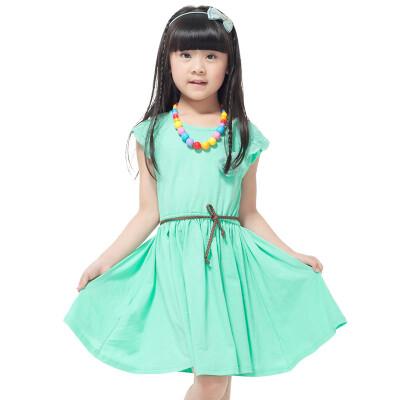 巴乐乐伊 闪购童装夏装裙子甜美可爱公主短袖女童连衣裙