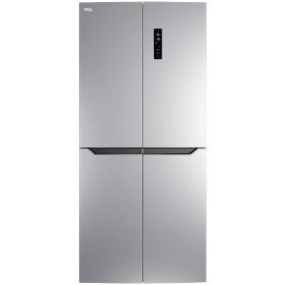 TCL 431升 变频十字对开门冰箱 风冷无霜 电脑温控 节能静音 (典雅银) BCD-431WEPZ50