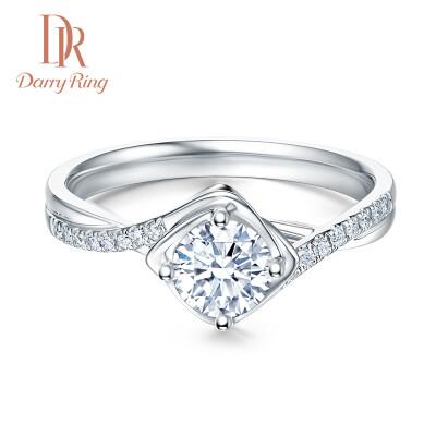 DR Darry Ring 求婚钻戒女士佩戴 钻石 JUST YOU 系列 浪漫款 30分D色SI1 切工VG 白18K金