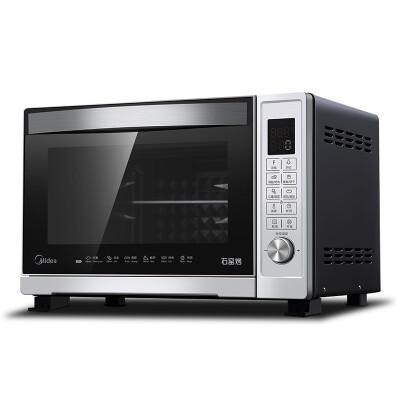 美的(Midea)T7-L328E 电烤箱家用32升容量 智能菜单 搪瓷内胆 加厚双层玻璃门 上下独立控温