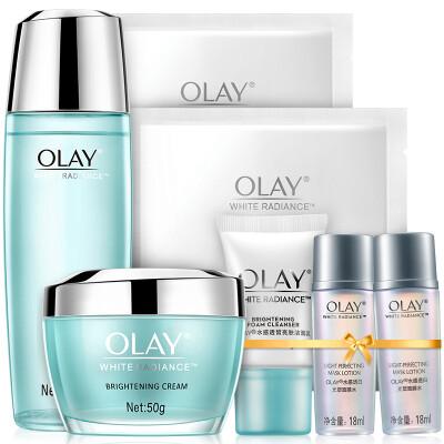 玉兰油OLAY护肤套装水感透白系列7件套护肤品化妆品套装(水感莹肌亮肤液+亮肤面霜+水感5件套) 提亮肤色
