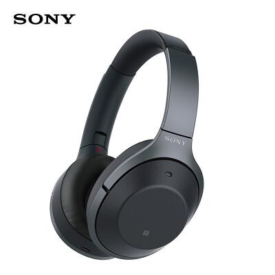 索尼(SONY)WH-1000XM2 Hi-Res无线蓝牙耳机 智能降噪耳机 头戴式 1000x二代 黑色