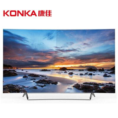 康佳(KONKA) OLED65V91U 65英寸 4K 智能曲面液晶电视