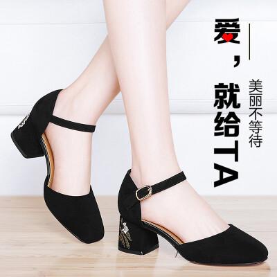 单鞋女高跟鞋一...