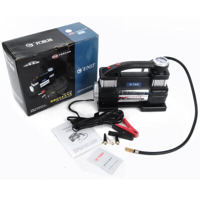 尤利特(UNIT) 车载充气泵YD-3312 双缸大功率带电瓶夹适合越野车 轮胎打气泵