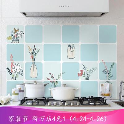 浪漫满屋 厨房防油烟贴纸耐高温玻璃贴装饰厨房壁纸防水墙贴支持定制墙纸