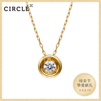 CIRCLE Circle日本珠宝 钻石吊坠??8K金单钻钻石项链锁骨链袁泉唐晶同款 钻石10分(顺丰发货?? class=