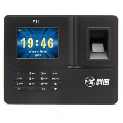 科密(COMET)E11 网络WIFI指纹智能考勤机 门禁机 打卡机卡钟 免软件/考勤软件自由切换 WIFI连接免布线