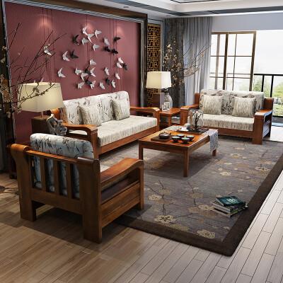 丽巢 实木沙发...