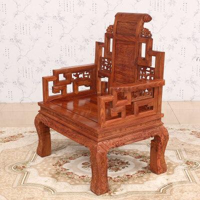 永悦轩 花梨木办公桌 实木办公桌 老板桌经理电脑桌大班台 豪华中式书桌书柜组合 宝座椅