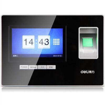得力(deli) 3968智能触屏打卡机 免软件指纹考勤机