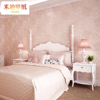 米迪(MIDI) 欧式田园浮雕立体3D无纺布餐厅壁纸 客厅电视背景墙卧室墙纸环保婚房