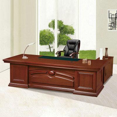 统阅老板办公桌大班台板桌经理主管桌油漆贴实木皮 不要小柜子减价200