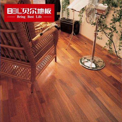 贝尔(BBL) 贝尔地板 强化复合木地板 仿实木环保地板 简爱 柚木款8mm 耐磨小浮雕