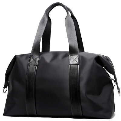 博牌BOPAI旅行包男士手提包短途大容量行李包女出差健身包旅游单肩包防水行李袋黑色732-005431