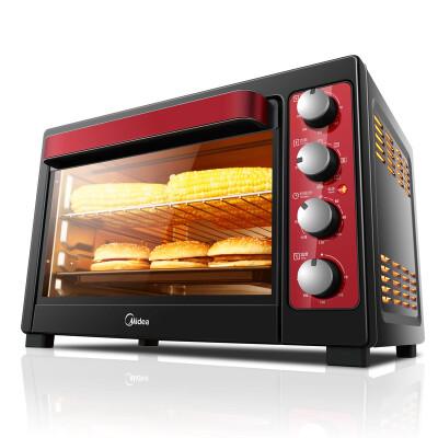 美的(Midea)T3-L383B 家用多功能电烤箱 38升大容量 旋转烧烤 低温发酵