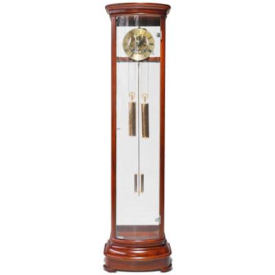 汉时(Hense)实木落地钟 客厅时尚机械座钟HG131 花梨木 (七天重锤打铃机芯)
