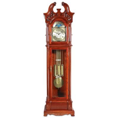 汉时(Hense)实木落地钟客厅欧式经典立钟德国赫姆勒机械钟表HG2202 花梨木德国八音