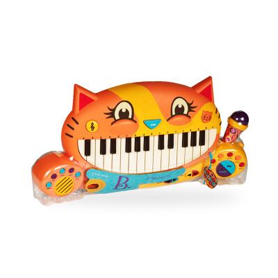 B.Toys 比乐 大嘴猫咪电子琴 早教动感音乐玩具 带麦克风 启蒙多功能乐器 音乐玩具 2岁+ BX1025Z