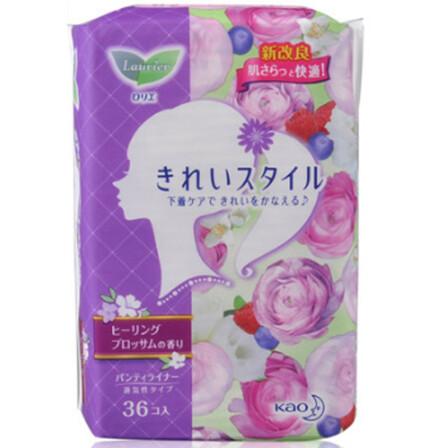 KAO 花王 乐而雅 丝薄透气花香型卫生护垫 36片 39元(可满99元6件)