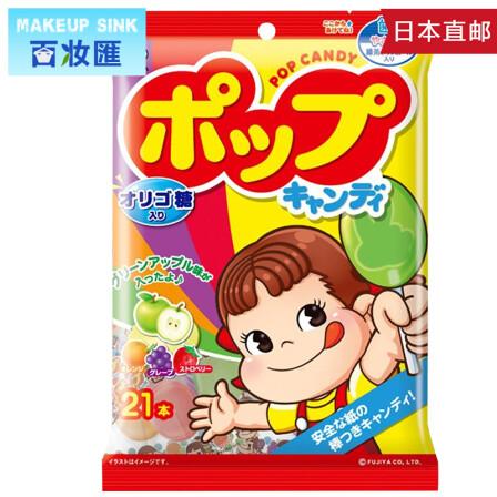 日本进口零食 不二家水果棒棒糖 20支一包 5包装图片