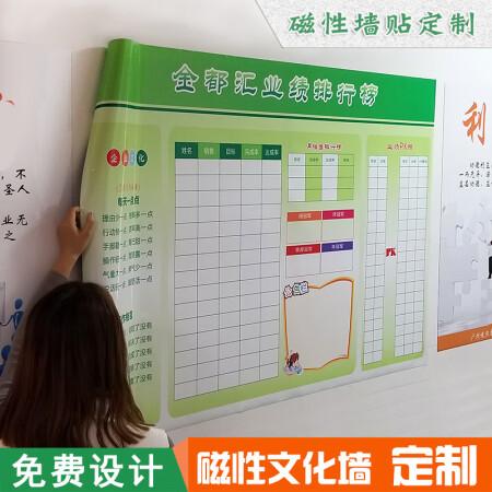 印刷软白板定制磁性企业文化墙公告栏业绩表格展板墙贴纸磁贴定做