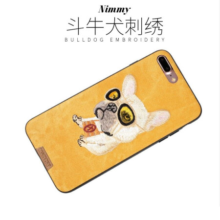 适用于iphonex苹果8plus可爱动物刺绣手机壳7plus全包
