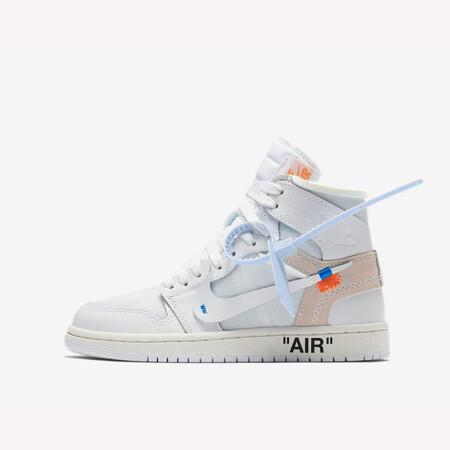 air jordan 1 男鞋联名款 off-white×aj1 the 10限量黑红白运动篮球