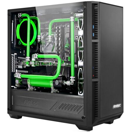 安钛克(antec)p8 黑色 中塔侧透机箱(钢化玻璃侧透/支持atx主板360