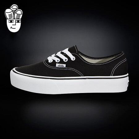 Vans Authentic Platform 范斯女鞋 低帮休闲板鞋 帆布鞋 vn0a3av8blk 34.5