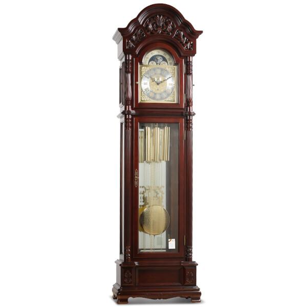 霸王(POWER)实木落地钟客厅创意欧式风德国进口赫姆机芯整点报时机械立钟表BW18001 8音簧