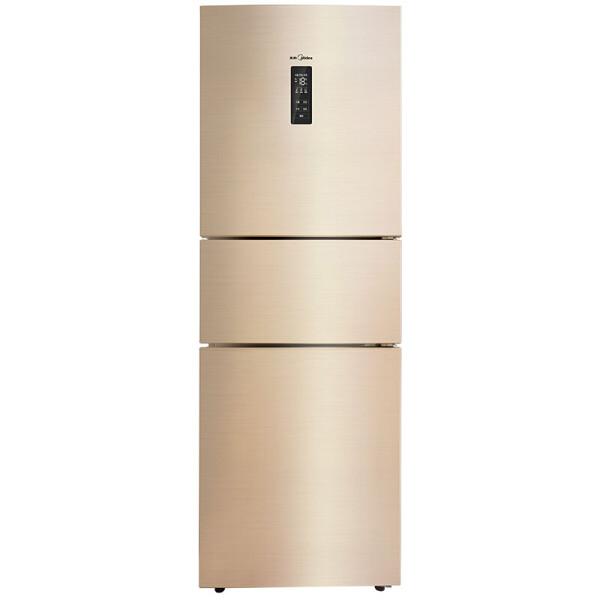 美的(Midea)258升 三门冰箱 变频无霜 一级能效 宽幅变温精准保鲜 电冰箱 睿智金 BCD-258WTPZM(E)