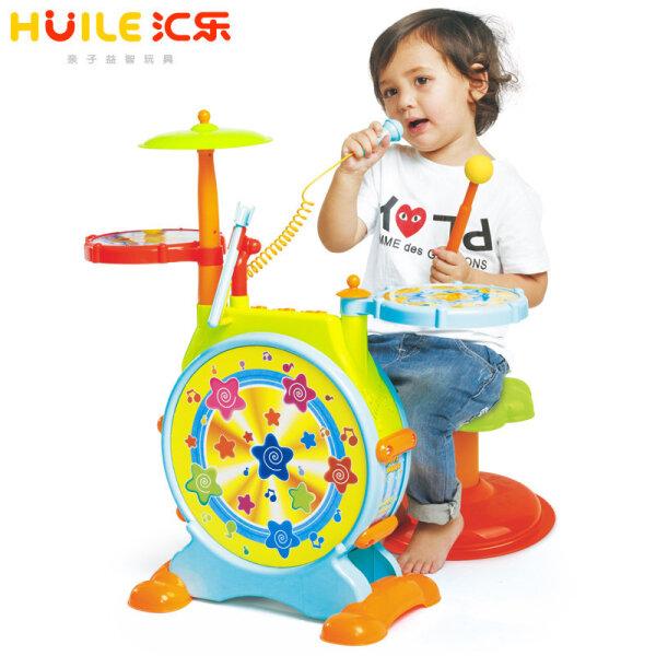 汇乐玩具(HUILE TOYS) 666爵士鼓大号女孩架子鼓电子鼓早教音乐玩具乐器男孩