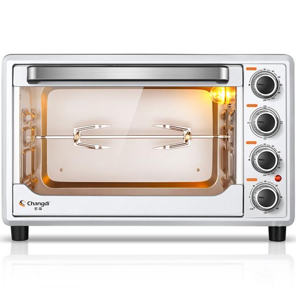 长帝(Changdi)32升上下管独立控温 旋转烧烤 炉灯家用多功能电烤箱TRTF32S