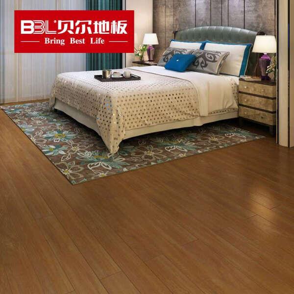 贝尔(BBL) 贝尔地板强化复合木地板仿实木地板曼姿山栎12mm裸板价