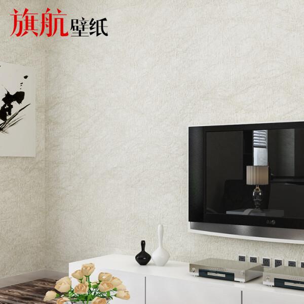 旗航壁纸 蚕丝壁纸环保无纺布素色9色可选现代墙纸卧室客厅电视背景