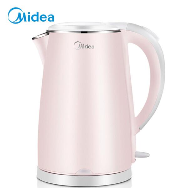 美的(Midea)电水壶 304不锈钢电热水壶 1.7L容量 双层防烫烧水壶WHJ1705b