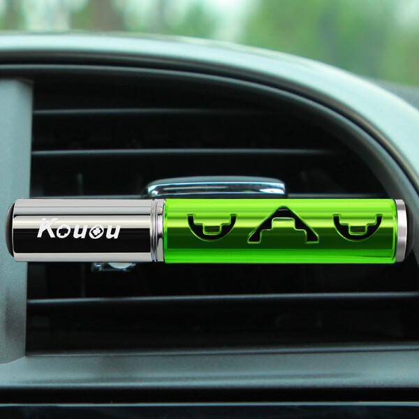 香王(Kouou)汽车香水 精油香薰汽车车载车用香水 空调出风口式 笛韵 森林绿色