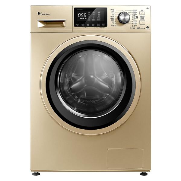 小天鹅(LittleSwan)8公斤变频 洗烘一体机 滚筒洗衣机 金色 智能控制 灵光筒灯 TD80V80WDG