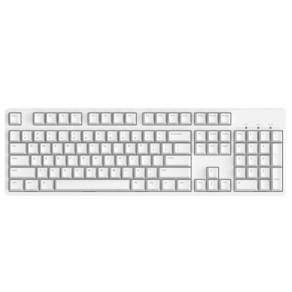 ikbc C104 樱桃轴机械键盘 104键原厂Cherry轴 白色 红轴 游戏键盘 绝地求生 吃鸡键盘 13起购