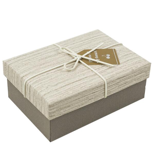 柯柯安商务礼品盒长方形礼物盒收纳盒礼物包装礼盒礼品包装盒 拉丝卡其 小号加礼袋