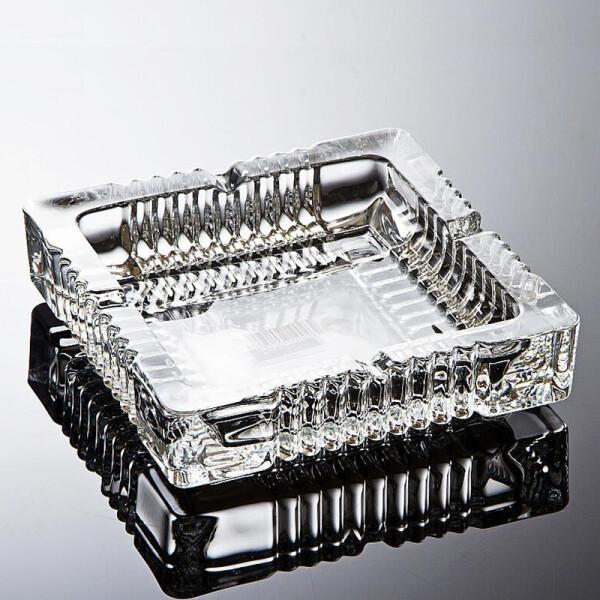 正方形礼品烟灰缸 宾馆酒店办公烟缸 创意水晶玻璃烟灰缸 大号