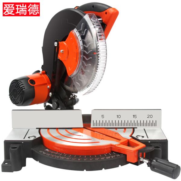 爱瑞德 10寸多功能锯铝机 铝材木材切割机 45度斜切锯界铝机 电动工具 锯铝机+木工锯片