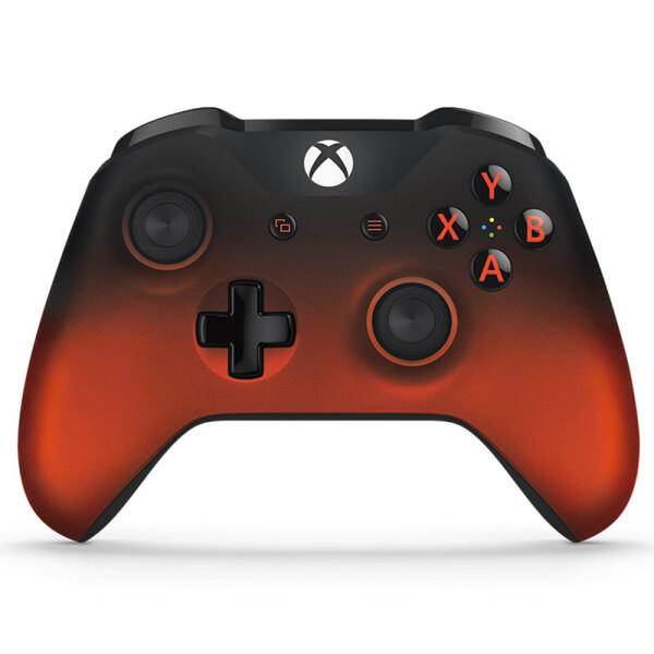 微软(Microsoft) Xbox One S手柄国行原装PC无线精英游戏控制器接收器吃鸡手柄 One S蓝牙手柄 熔岩红(可有线/蓝牙/无线)