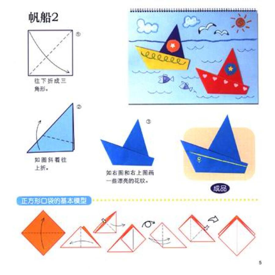 幼儿园实用手工推荐教程:小小孩折纸(2)